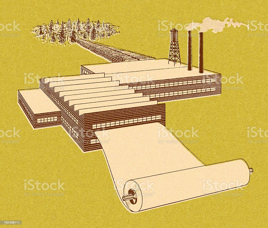 Paper Mill royalty-free stock vector art