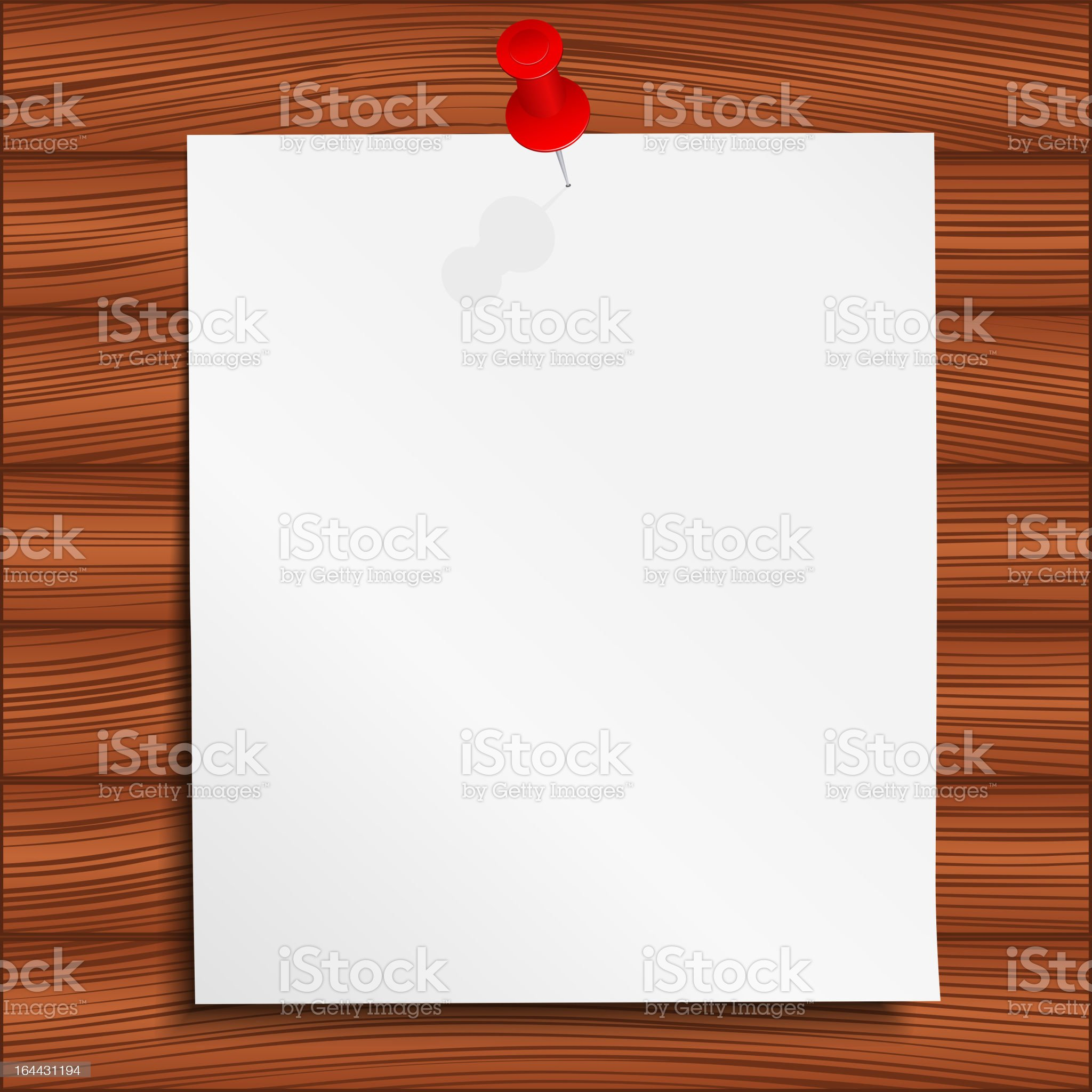Paper Note royalty-free stock vector art