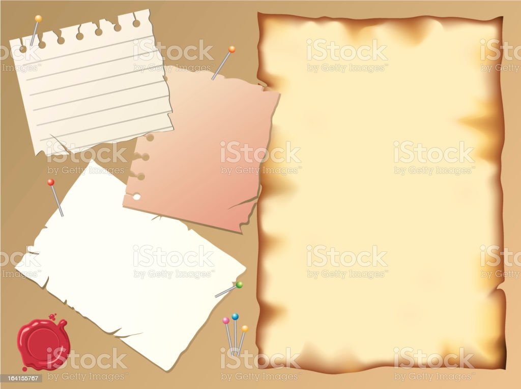 Paper notes royalty-free stock vector art