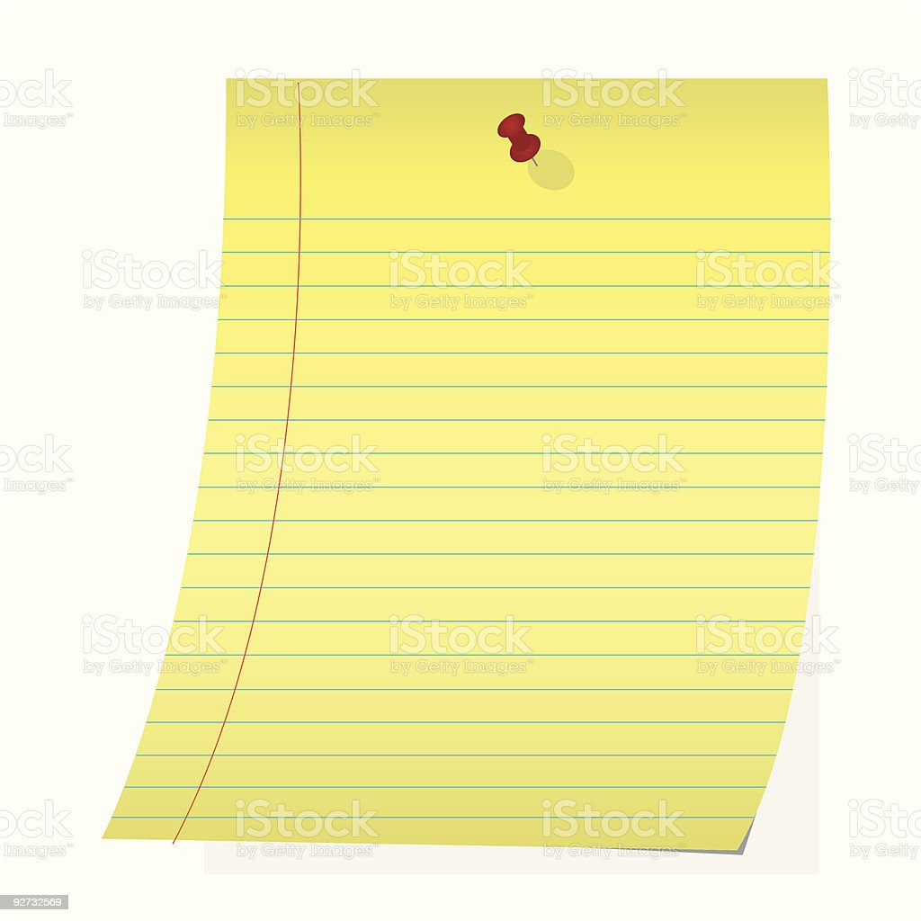 Paper pinned up royalty-free stock vector art