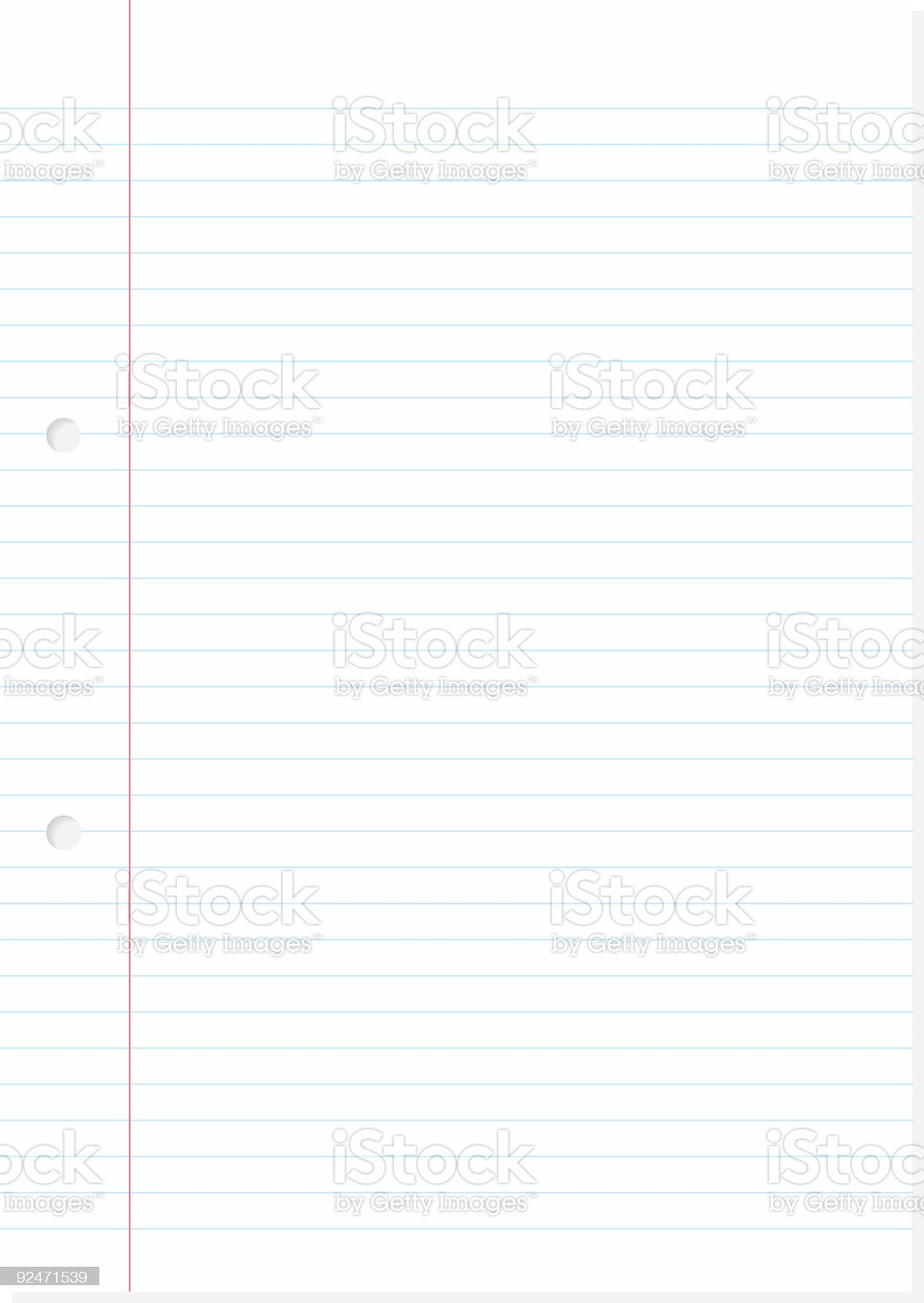 Paper Sheet (vector) royalty-free stock vector art