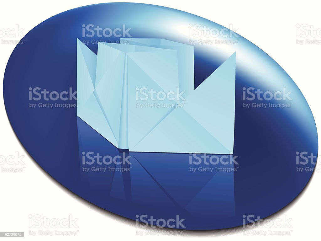 Paper ship royalty-free stock vector art