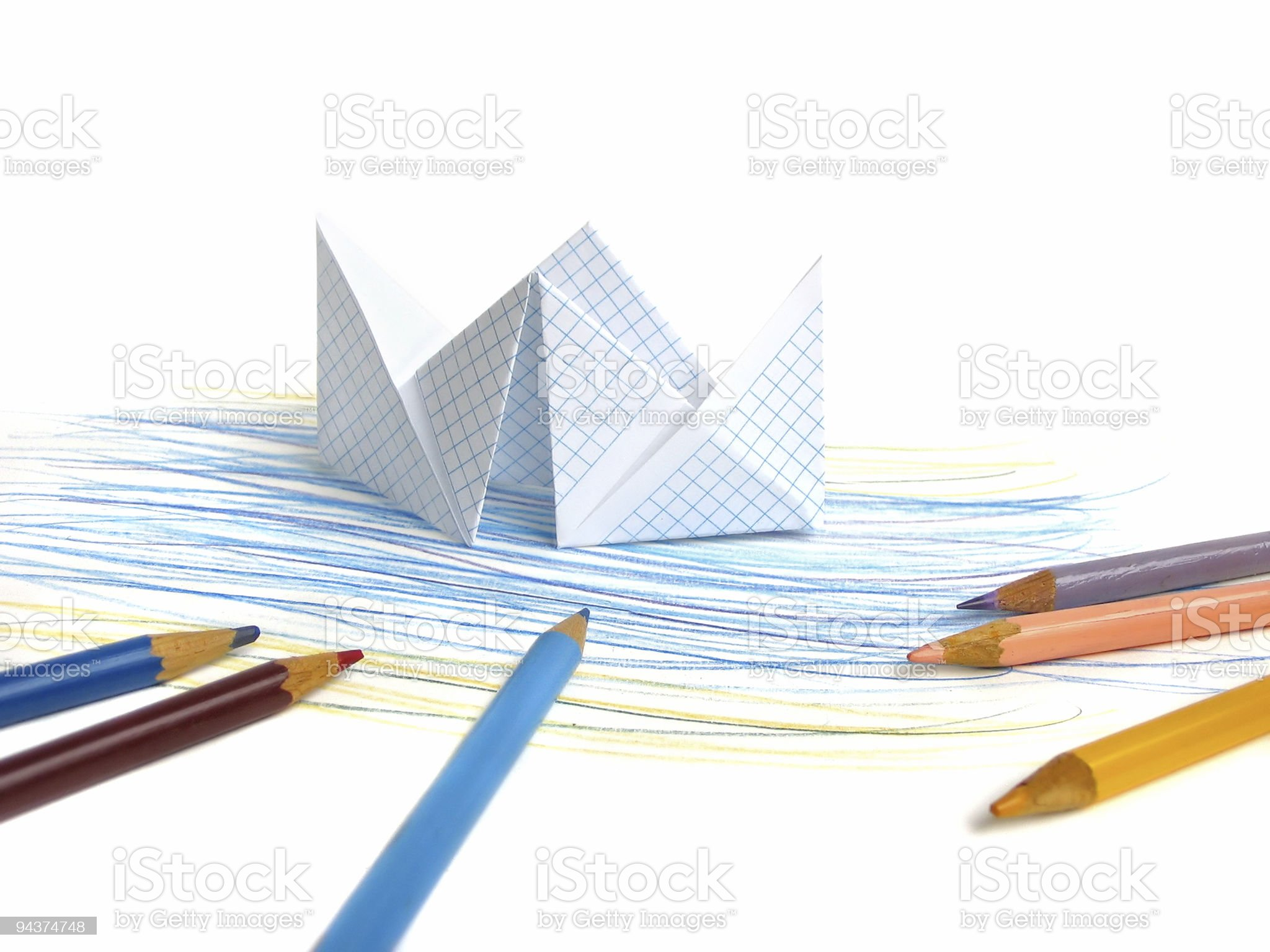 Paper ship royalty-free stock vector art