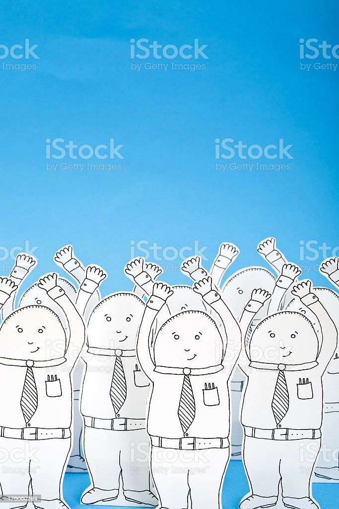 Paper white collar workers royalty-free stock vector art