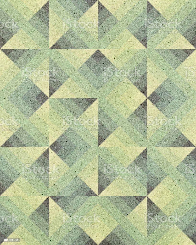 paper with Art Deco geometric pattern vector art illustration