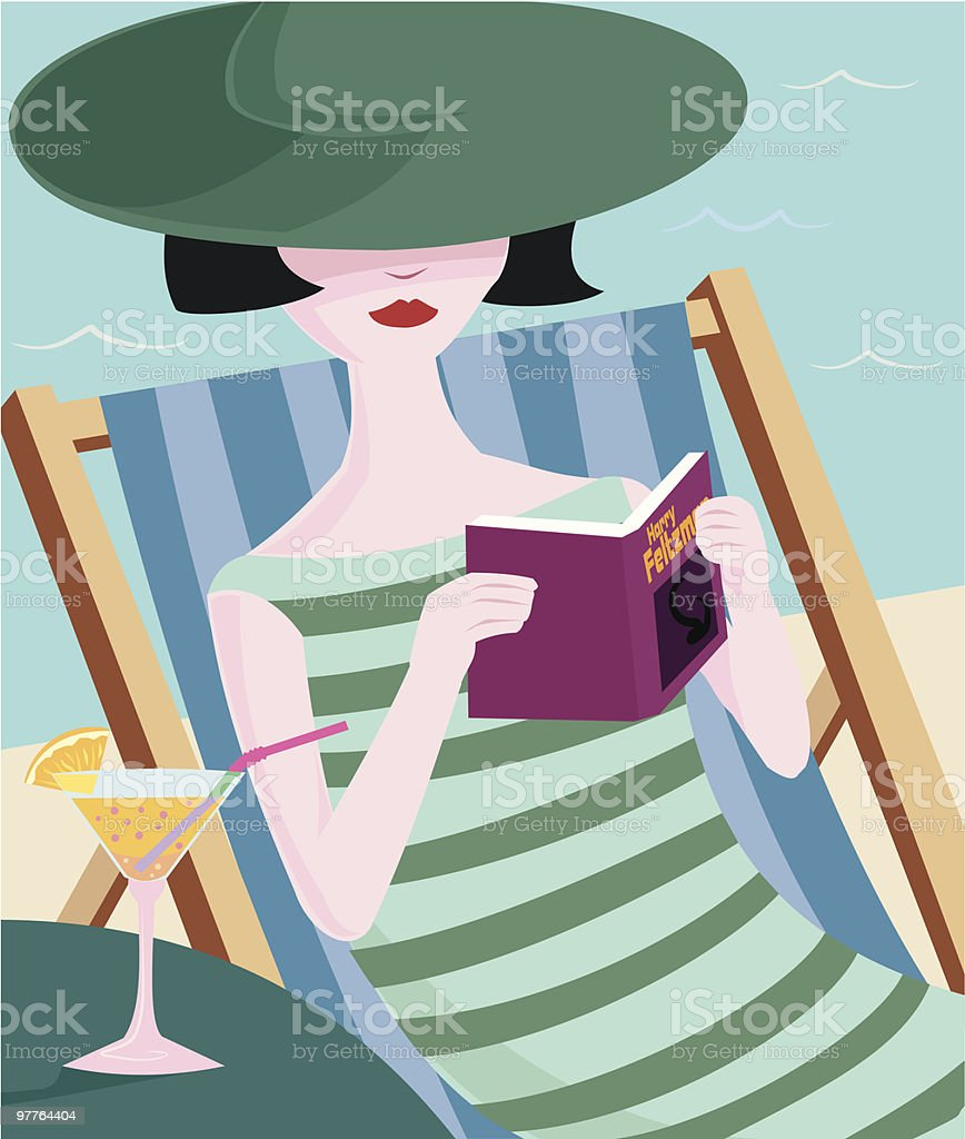 Paperback Relaxation royalty-free stock vector art