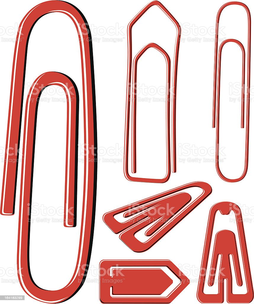 PaperClips royalty-free stock vector art