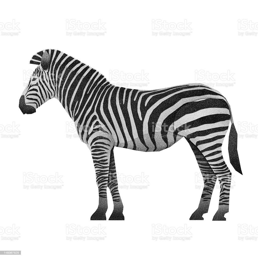 Papercut Zebra Recycled Paper royalty-free stock vector art