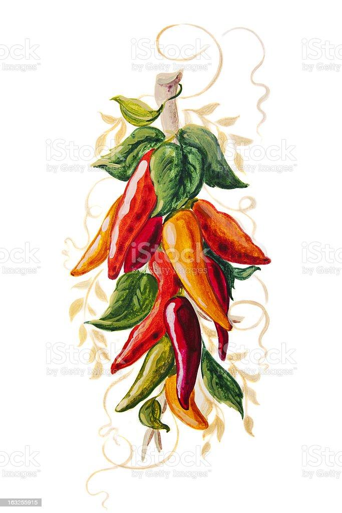 Paprika Painting vector art illustration