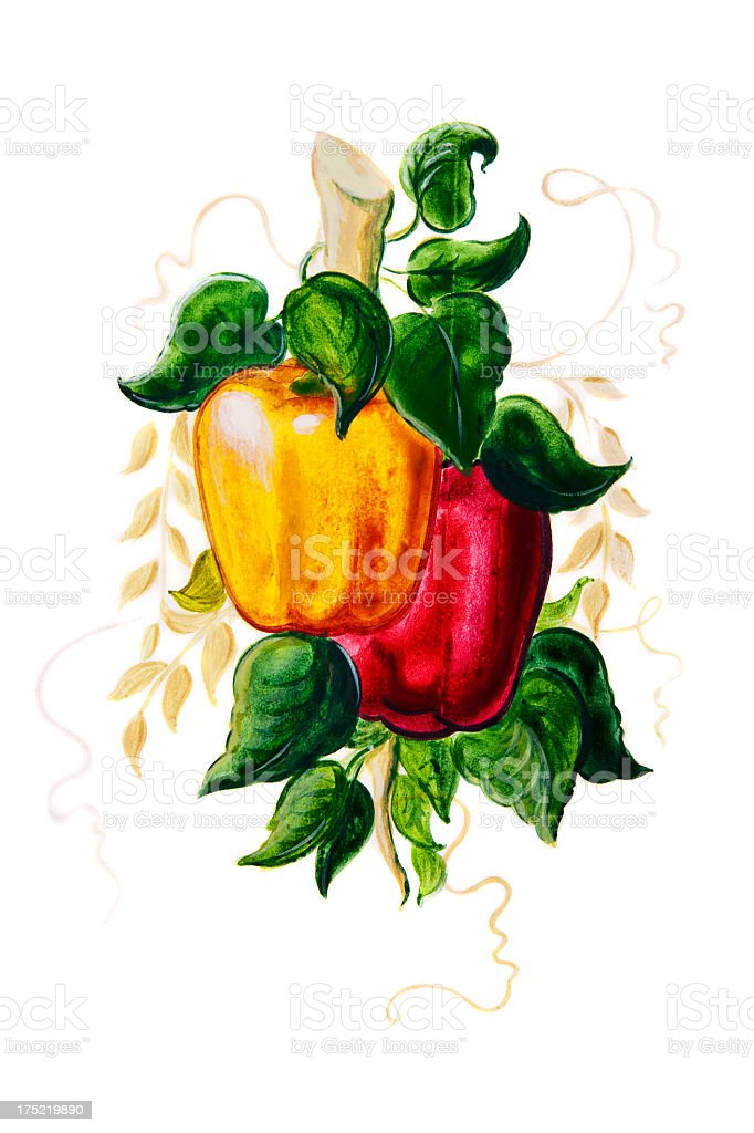 Paprika Painting royalty-free stock vector art