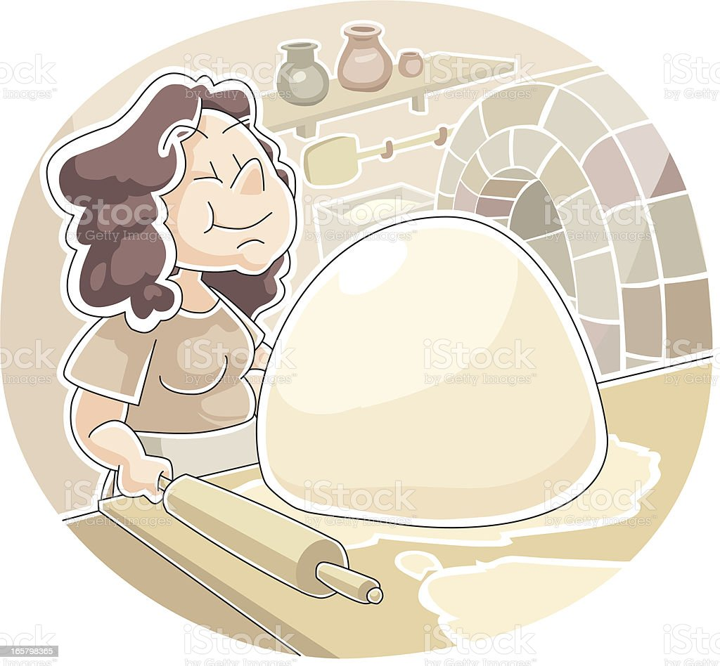 Parable of the Yeast royalty-free stock vector art