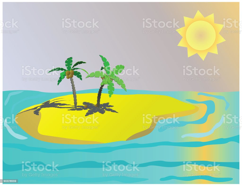 Paradise Island (Vector) royalty-free stock vector art