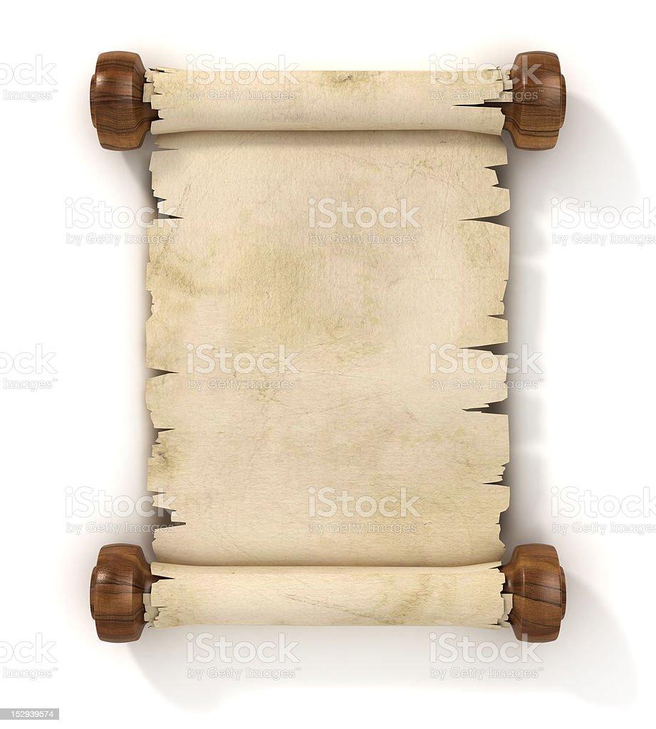 parchment scroll vector art illustration
