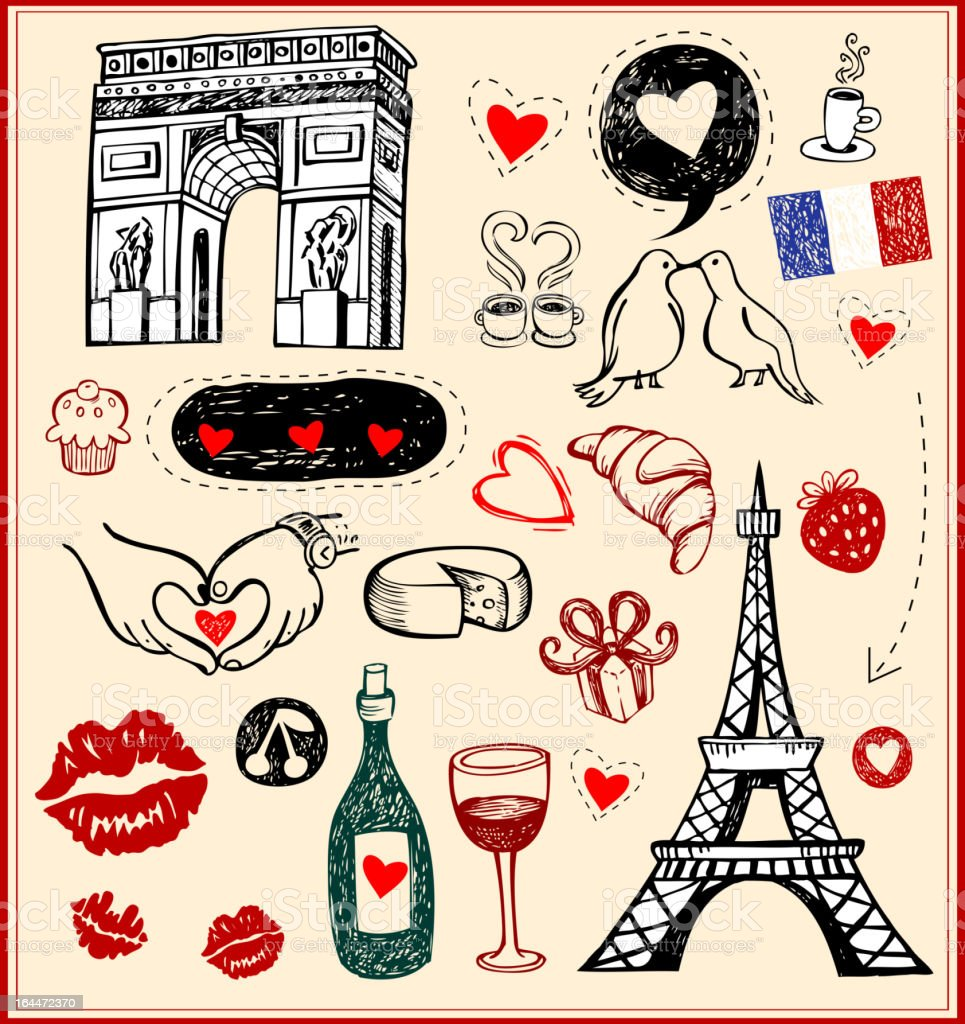 Paris - a city of love royalty-free stock vector art