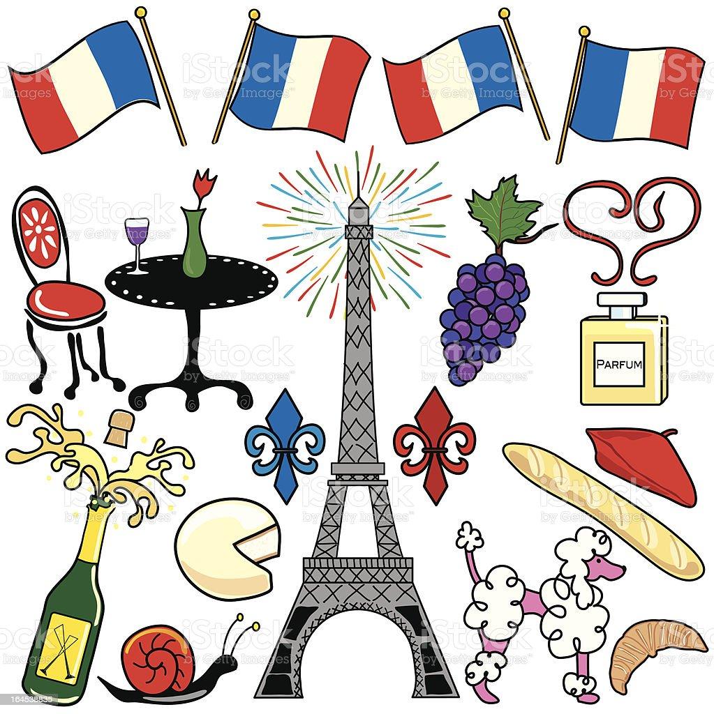 Paris, France Clip Art Celebration vector art illustration