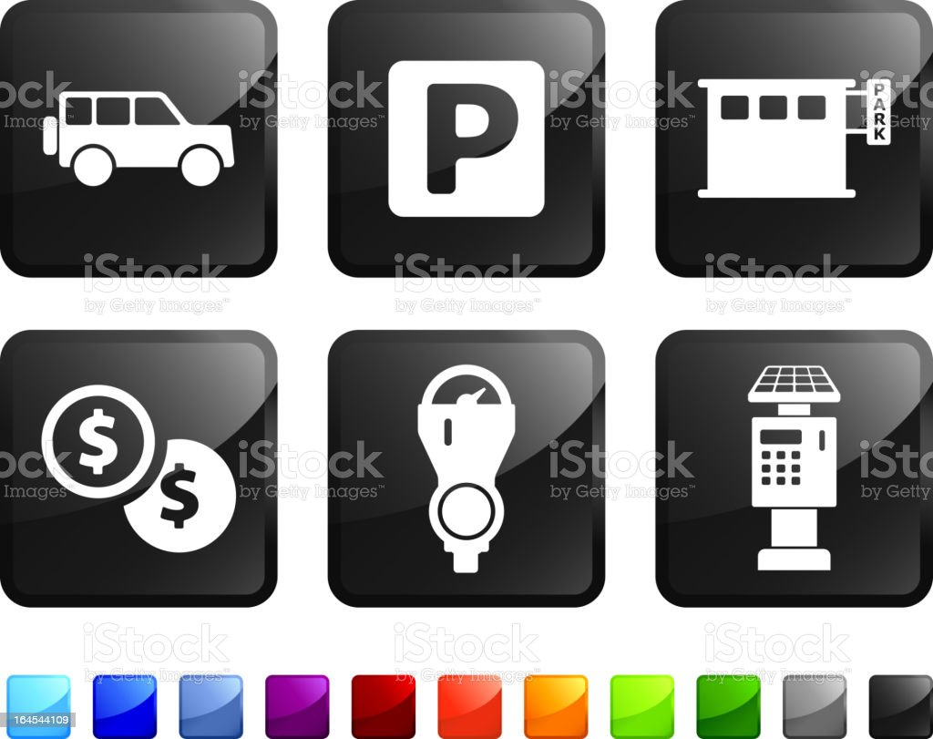 parking options royalty free vector icon set stickers royalty-free stock vector art
