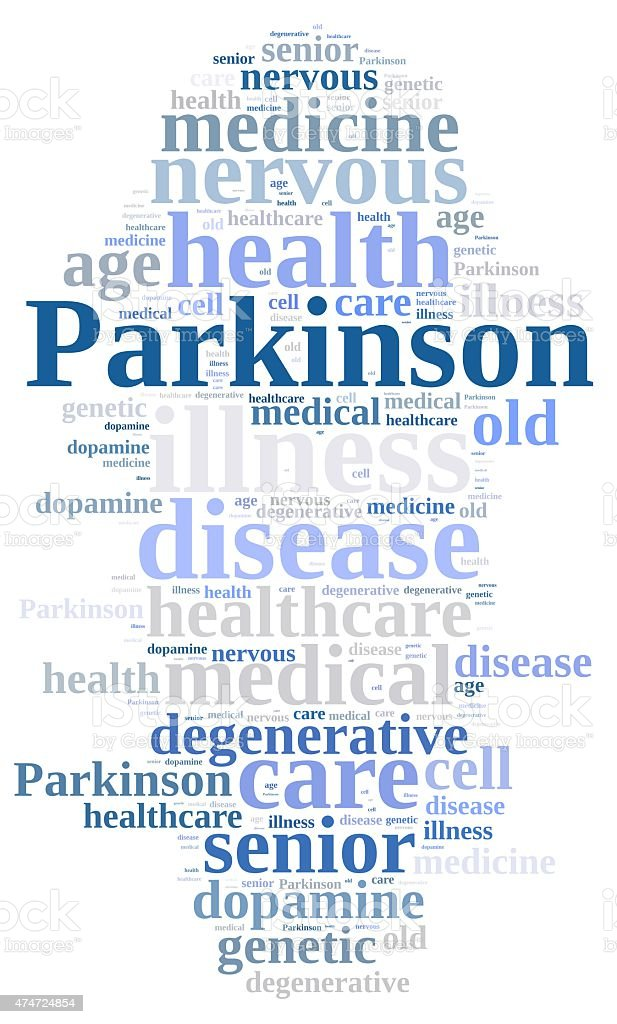 Parkinson. vector art illustration