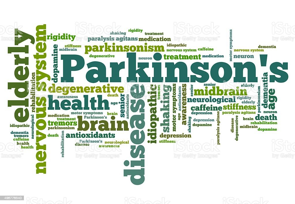 Parkinsons disease vector art illustration