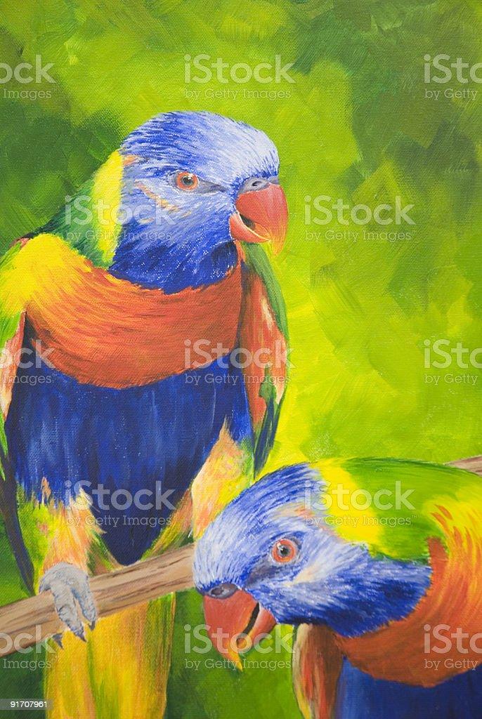 Parrots royalty-free stock vector art