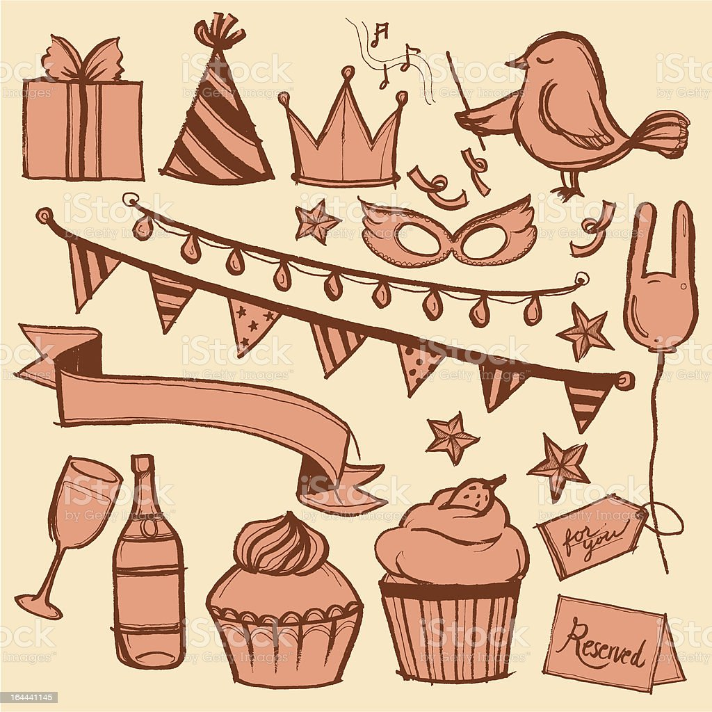 Party and celebration royalty-free stock vector art