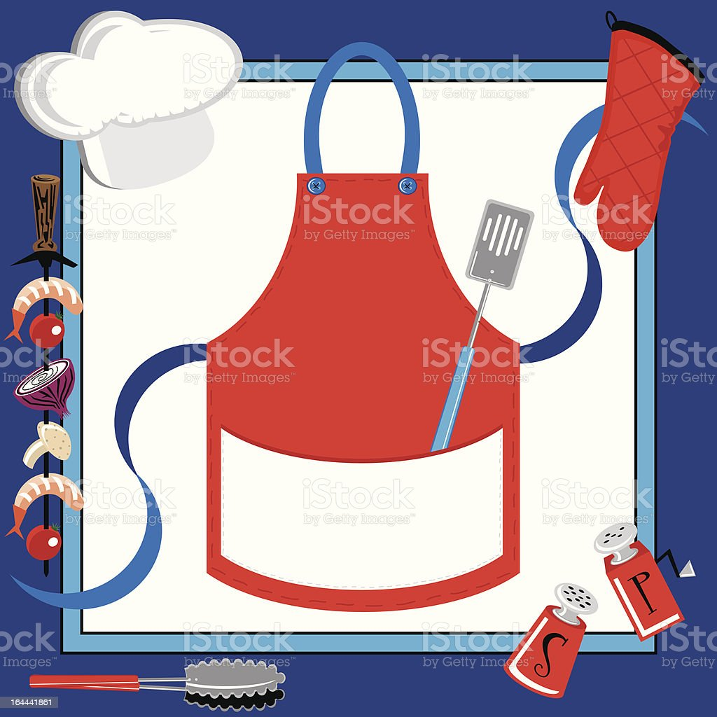 BBQ Party Apron royalty-free stock vector art