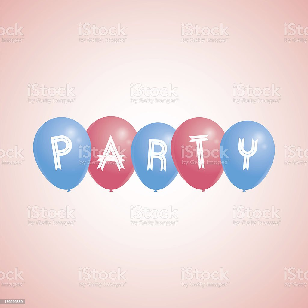 Party Balloons - raster image royalty-free stock vector art