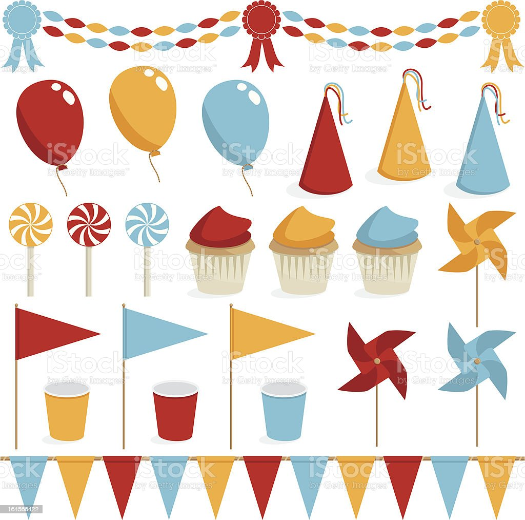 party decorations royalty-free stock vector art