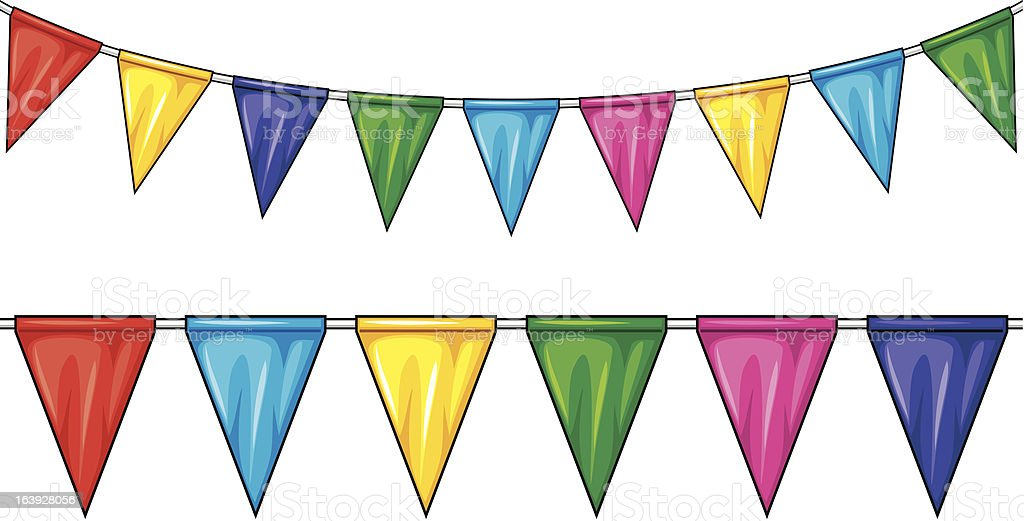 party flags (pennant bunting) royalty-free stock vector art