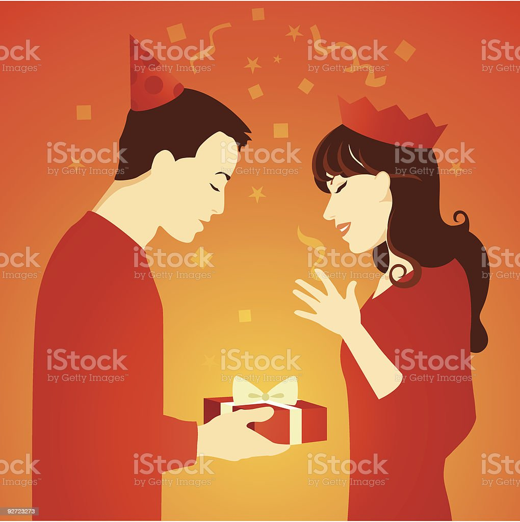 Party Gift royalty-free stock vector art