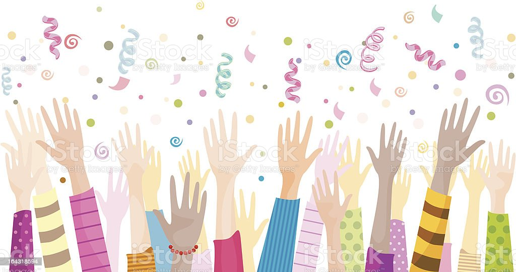 Party Hands royalty-free stock vector art