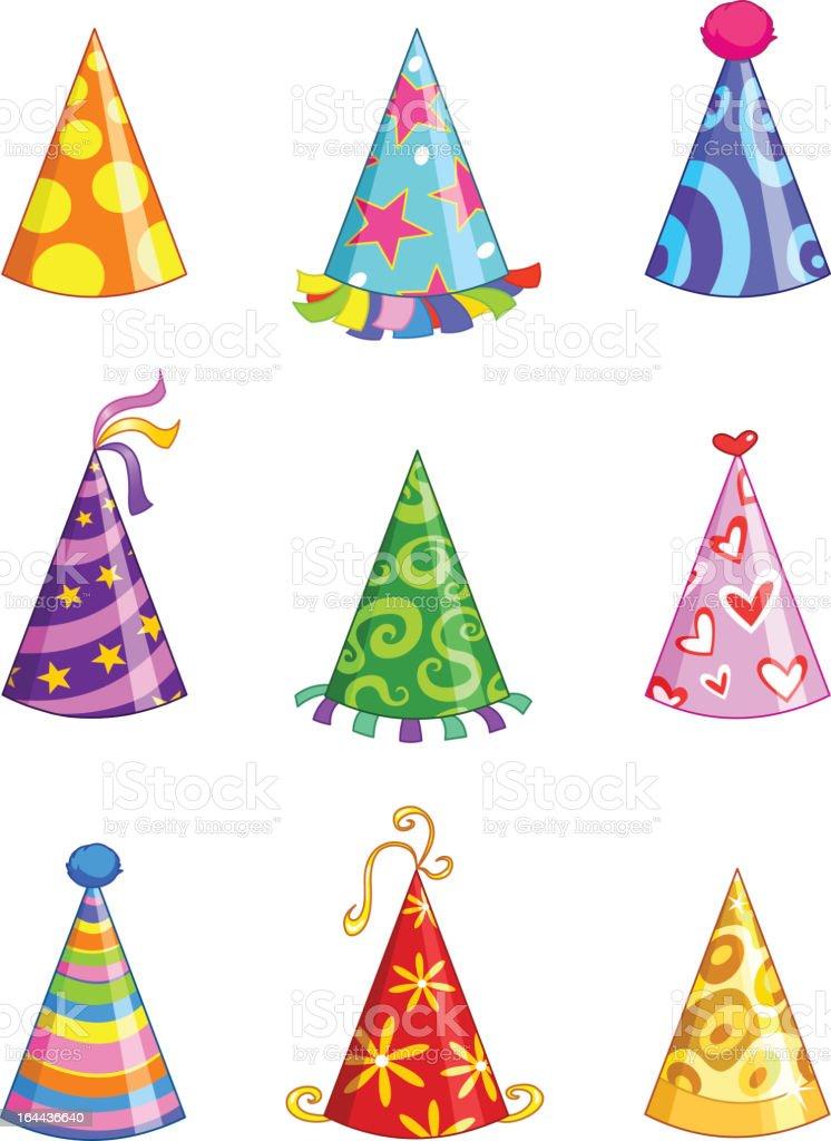 Party hats vector art illustration