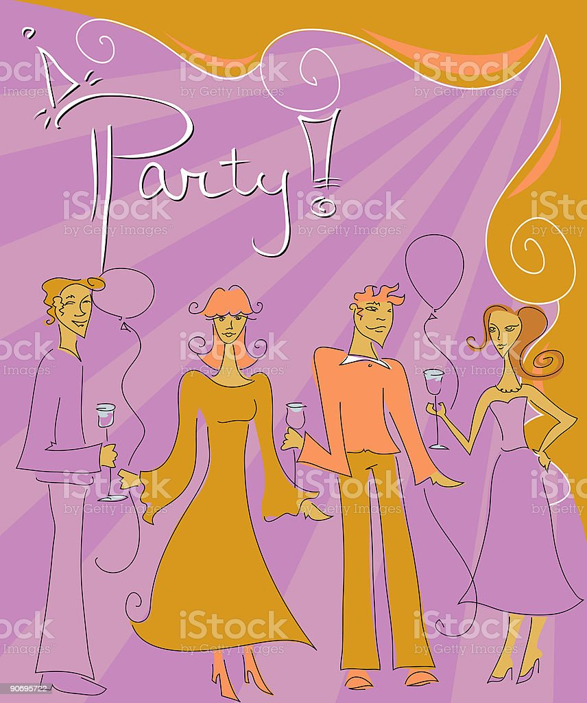 Party! vector art illustration