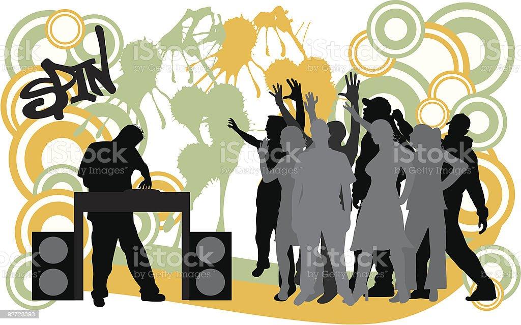 D.J. Party vector art illustration