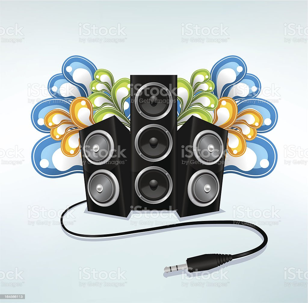 party music composition royalty-free stock vector art