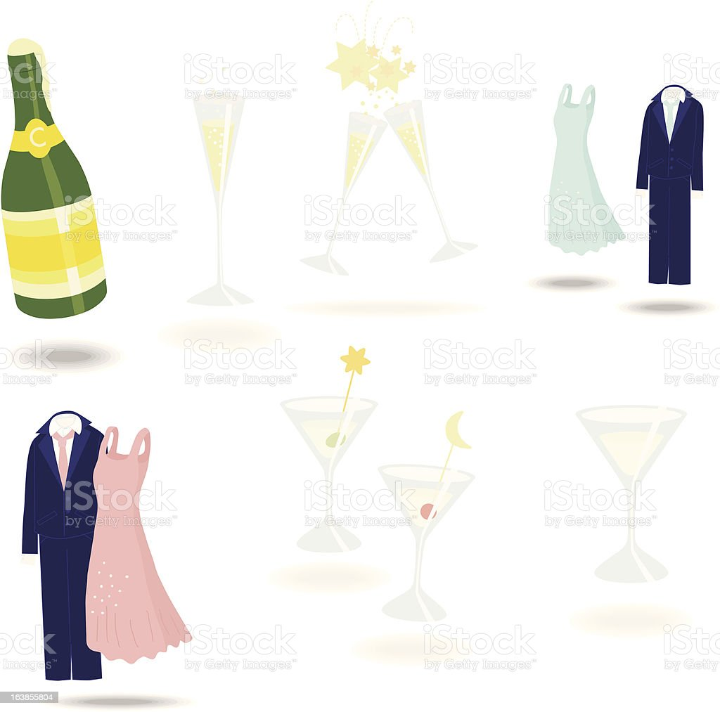 party objects royalty-free stock vector art