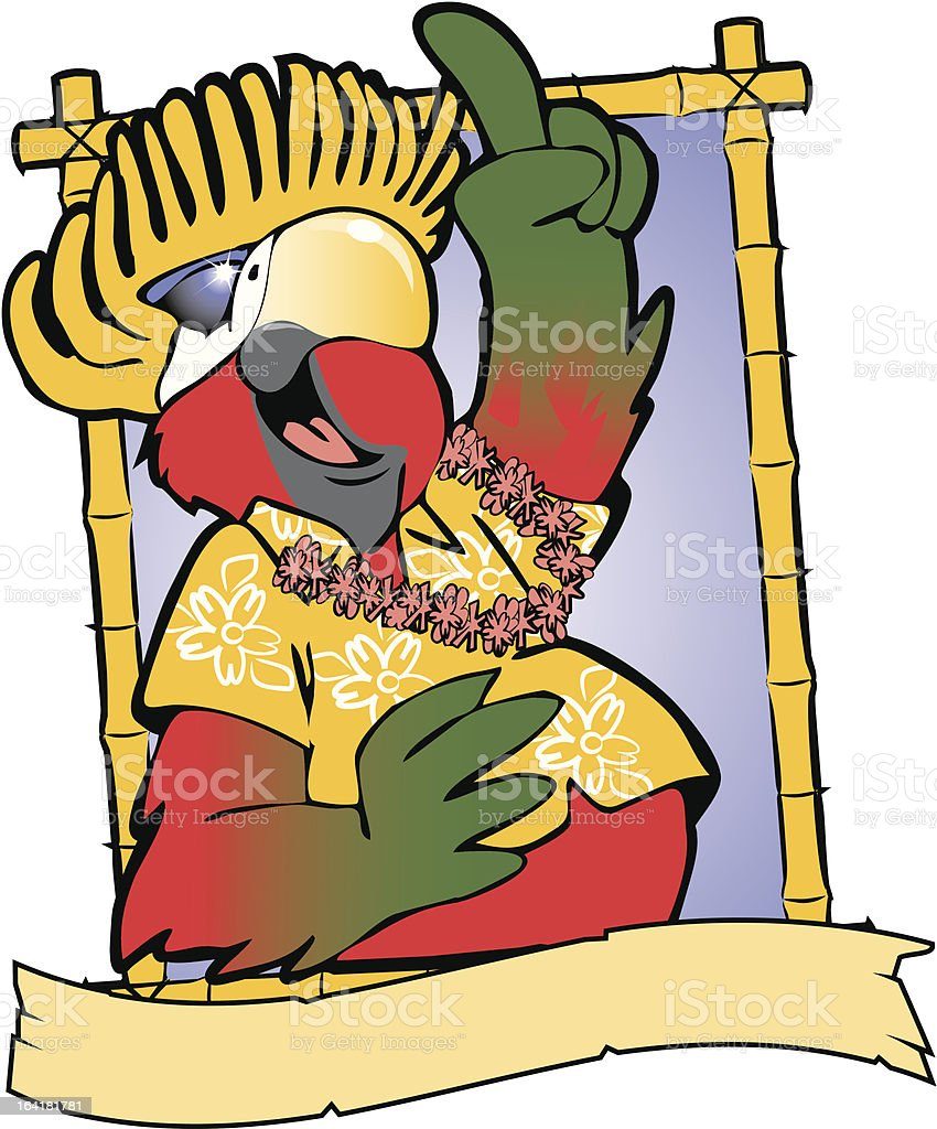 Party Parrot vector art illustration