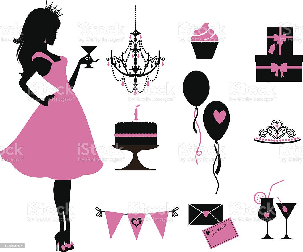 Party Princess vector art illustration