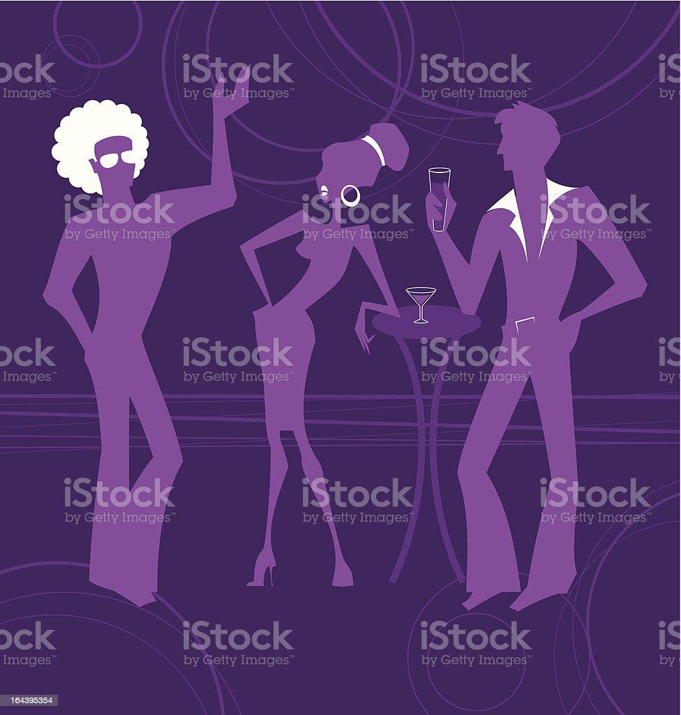 Party Talk vector art illustration