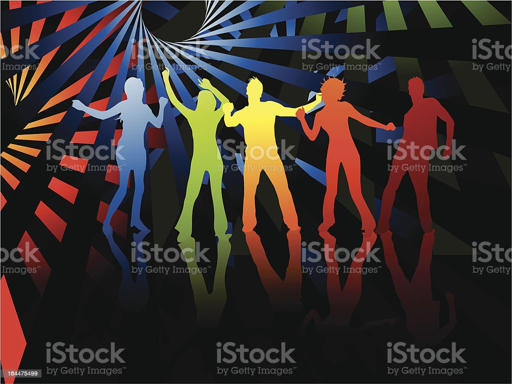 Party time colors vector art illustration