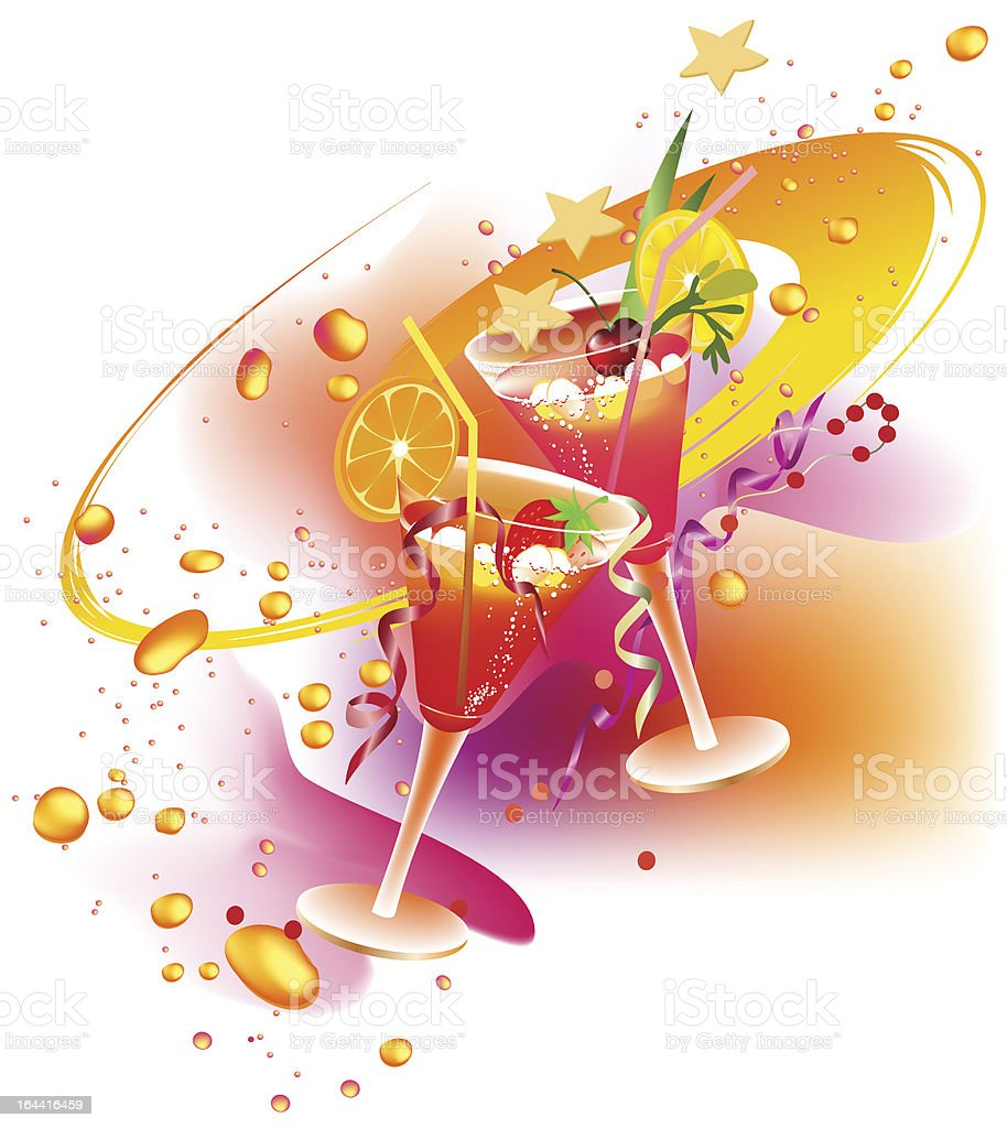 Party's drinks royalty-free stock vector art
