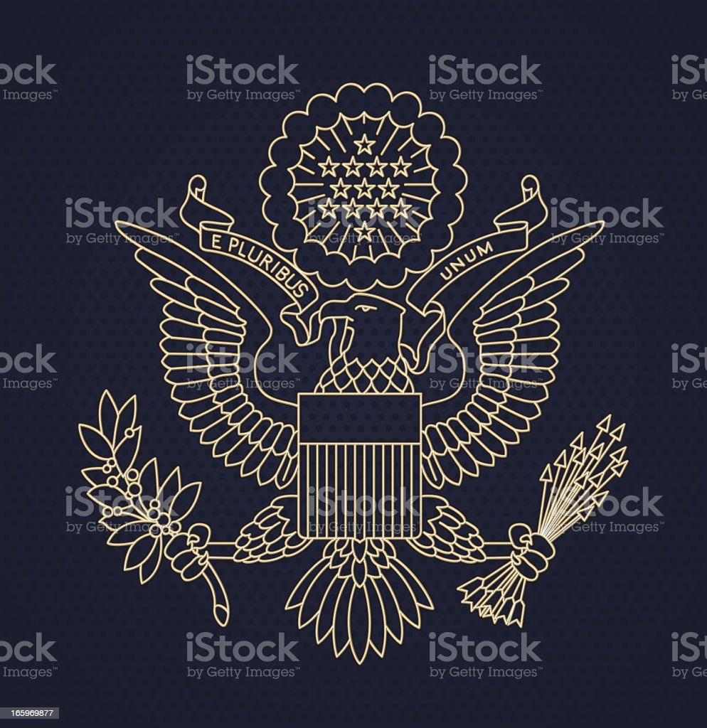 US Passport seal vector art illustration