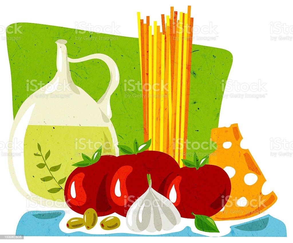 Pasta royalty-free stock vector art