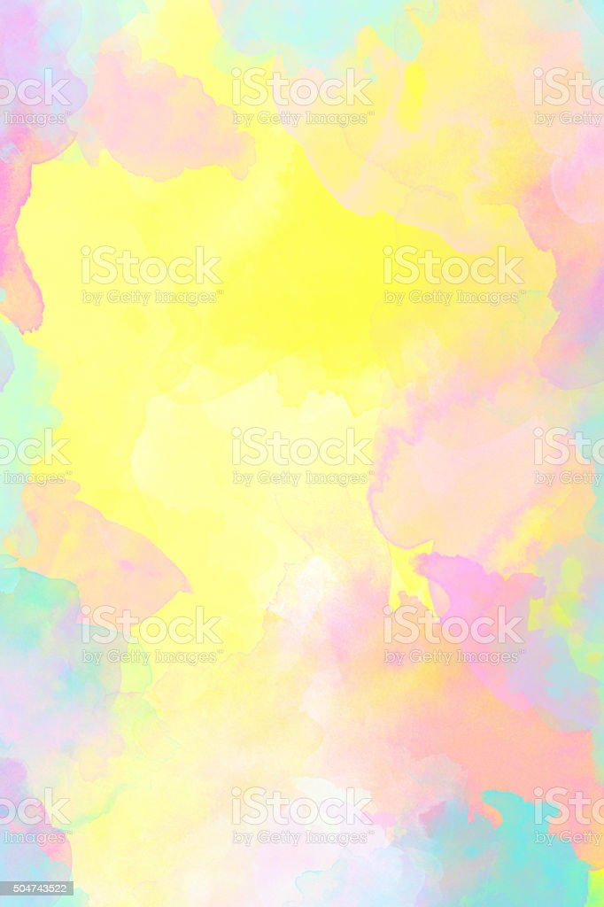 Pastel colored watercolor background vector art illustration