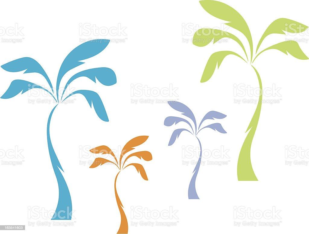 Pastel Palms royalty-free stock vector art