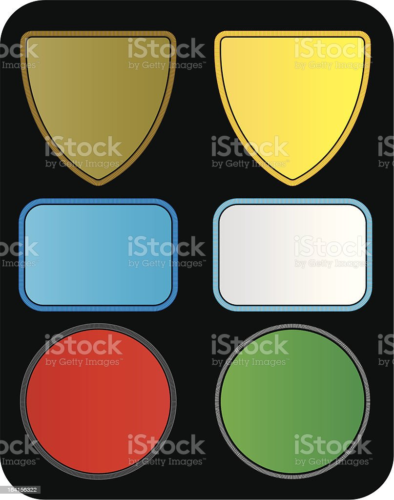 patches royalty-free stock vector art