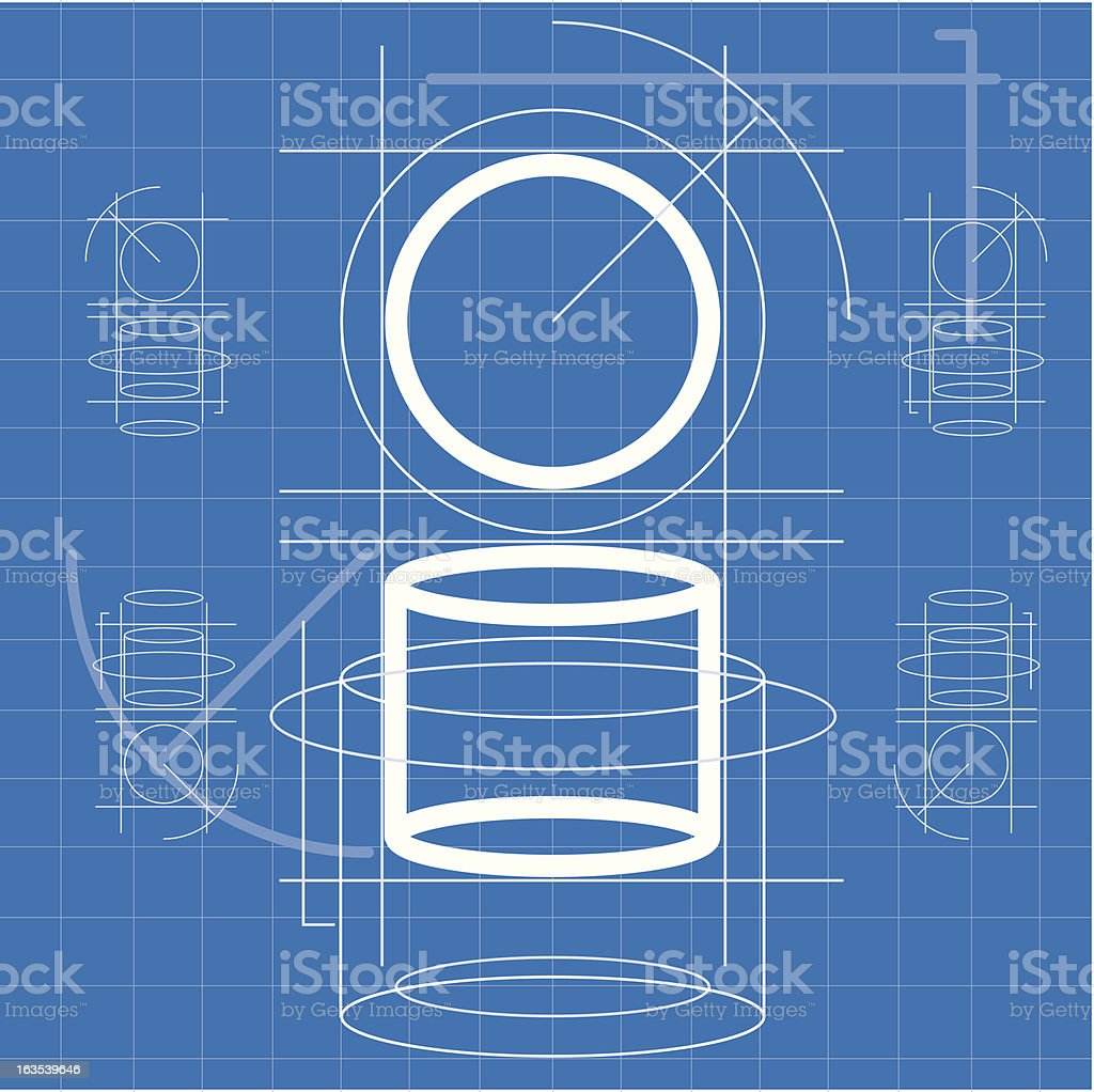 Patent BluePrint vector art illustration