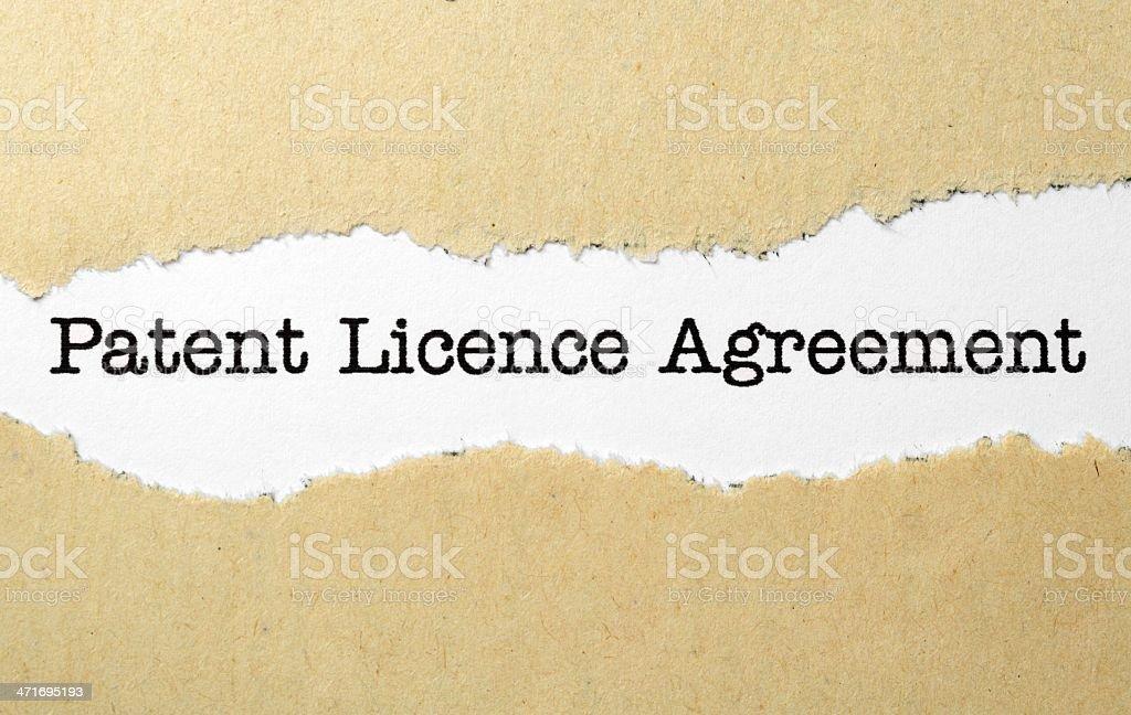 Patient license agreement vector art illustration
