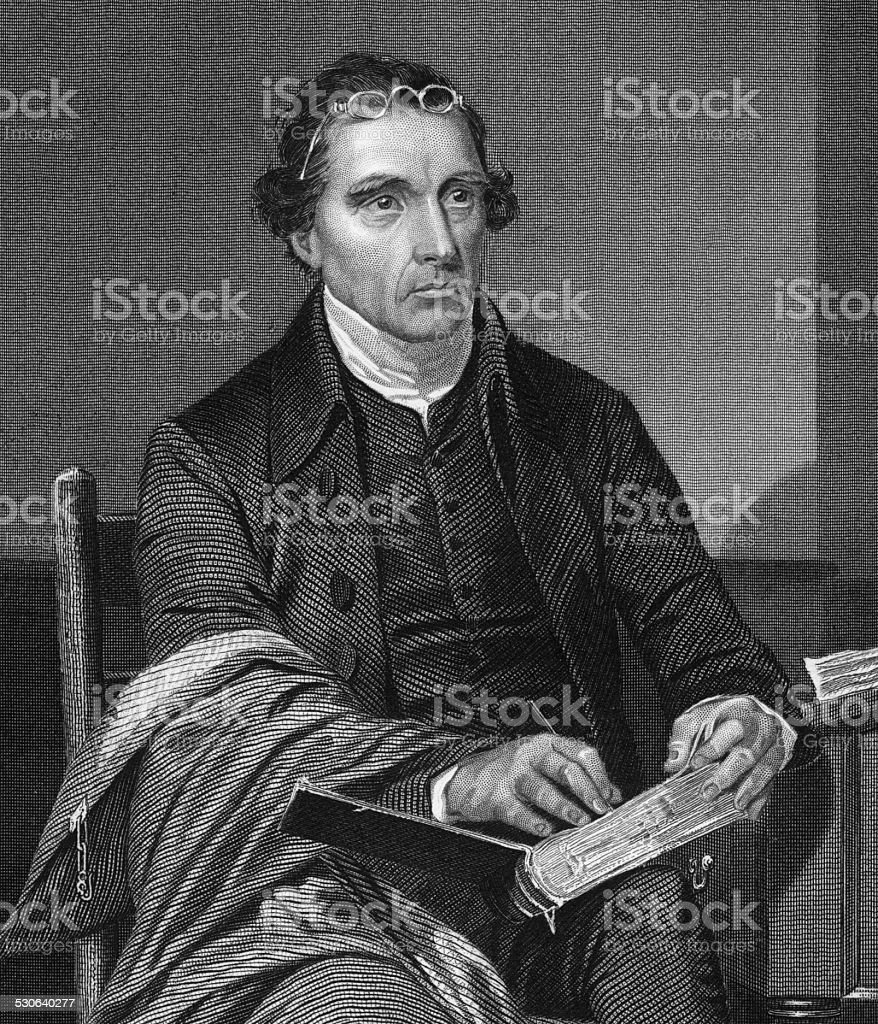 Patrick Henry Engraving stock photo