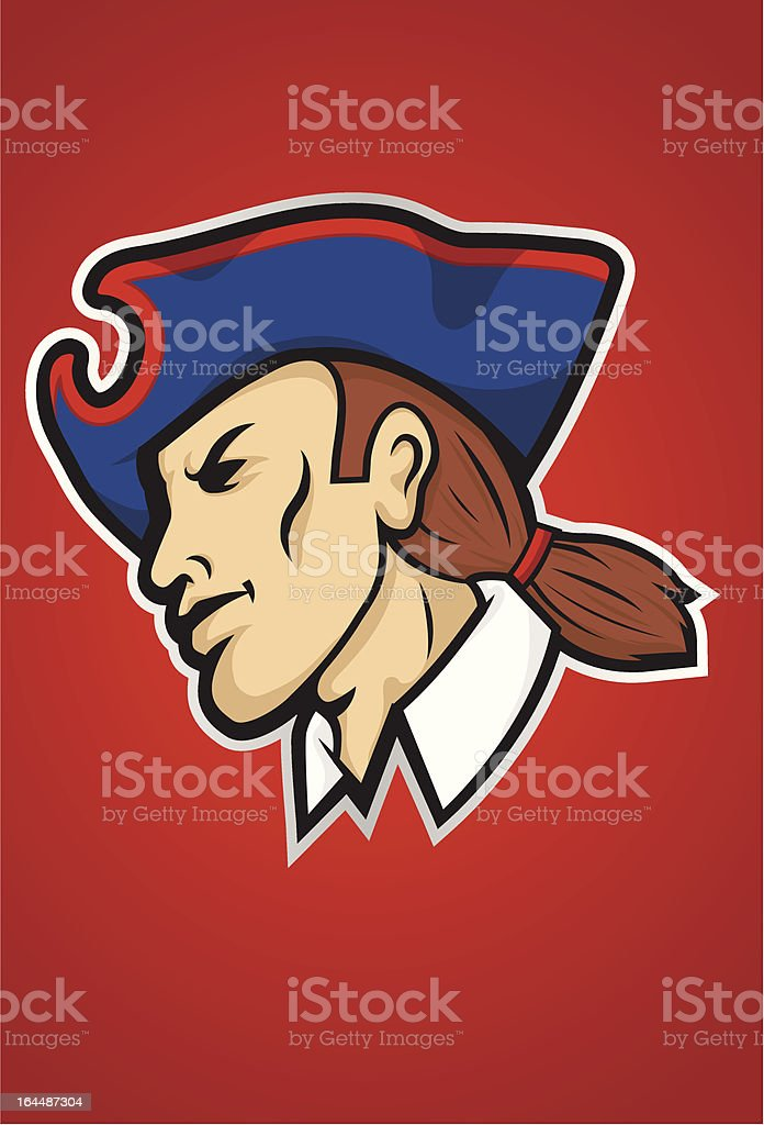 Patriot Mascot vector art illustration