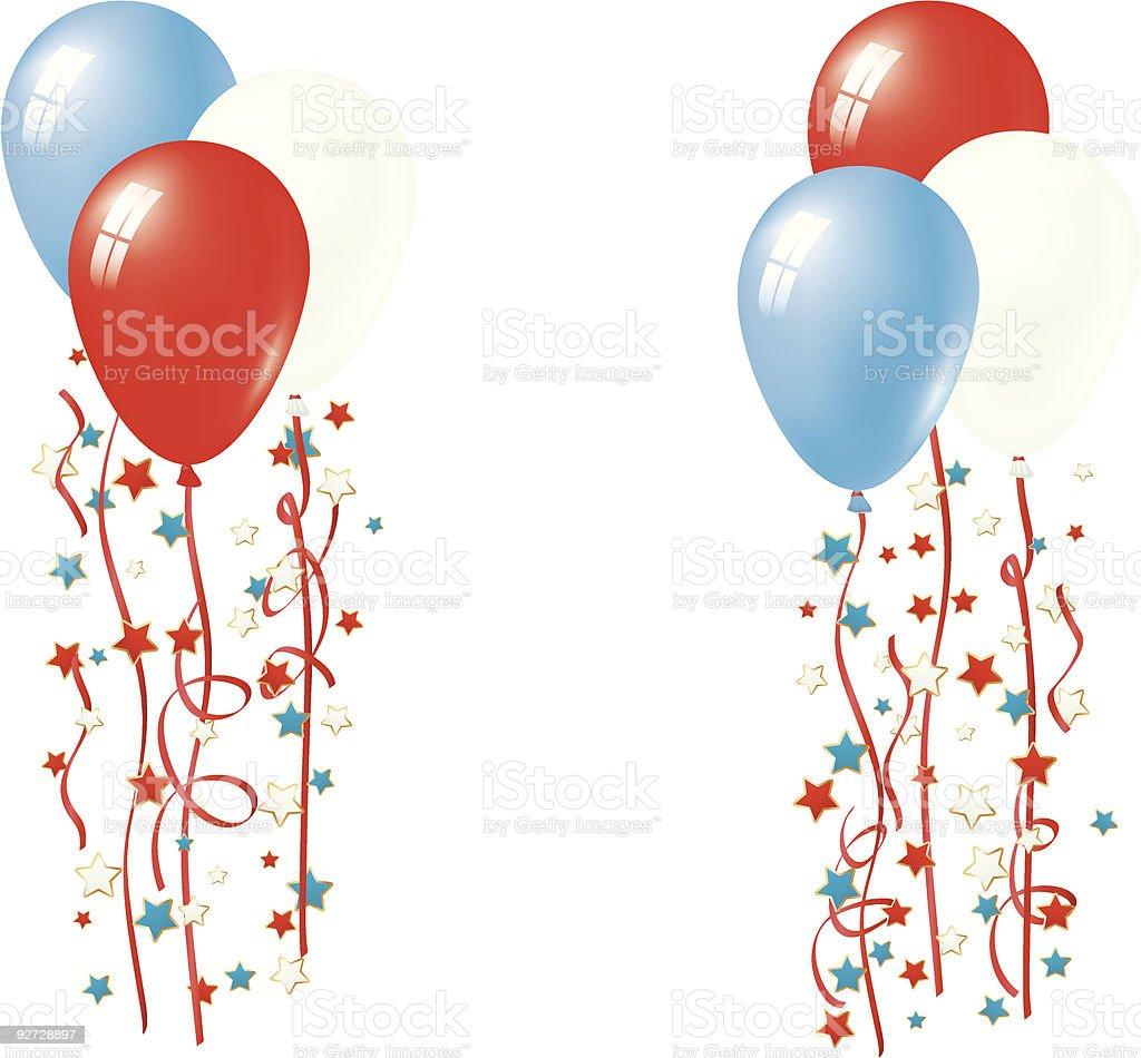 Patriotic Balloon Vector royalty-free stock vector art